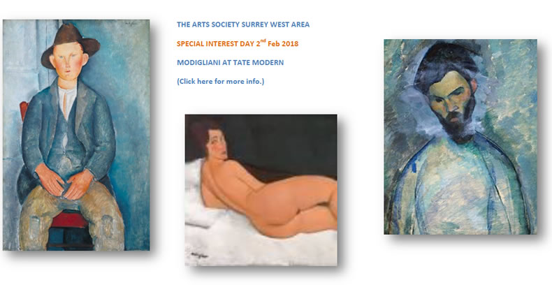 Modigliani Special Interest Day - The Arts Society Woking Surrey